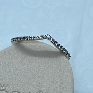 Sparkling Wishbone Ring Size 58 EU / 8.5 US